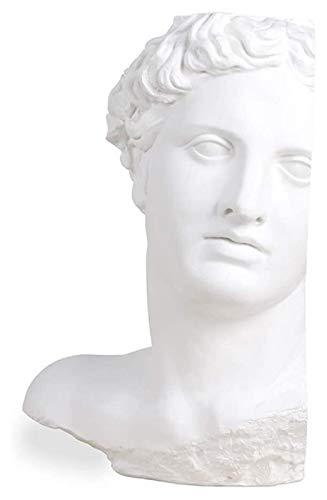 WQQLQX Statue Griechische Gesichtskopfstatue, Apollo-Kopf-Skulptur, Gipshandwerk, Home Büro-Schreibtisch Top-Dekoration, Kunstwerke Modell, Ornament-Figuren Skulpturen