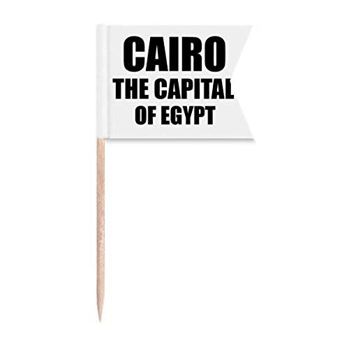"""Beauty Gift Kairo Die Hauptstadt Ã""""gyptens Markierung für die Kennzeichnung von Zahnstocher-Flaggen"""