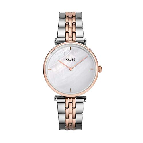 Montre Femme Cluse Triomphe Rose Gold White Pearl/Silver Rose Gold