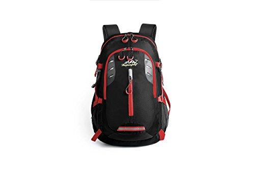Voyage sac à dos extérieur imperméable à l'eau grande capacité léger portable Sports sac d'alpinisme sacs randonnée équitation multifonction Pack H49 x L29 x T17 cm , black