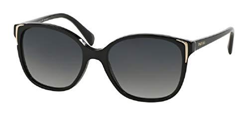 Prada PR01OS CONCEPTUAL 1AB5W1 55M Black/Grey Gradient Polarized Square Sunglasses For Women+FREE Complimentary Eyewear Care Kit