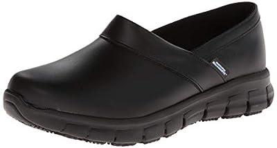 Skechers for Work Women s Relaxed Fit Slip Resistant Work Shoe 7174d682d1