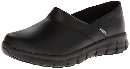 Skechers for Work Women's Relaxed Fit Slip Resistant Work Shoe, Black, 9 M US