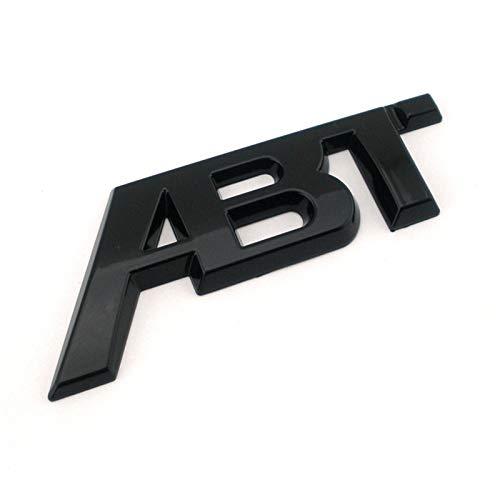 ずっと咲く花 Silber Poliert Chrom Schwarz 3D Sticker ABT Heck Seitliche von Auto-Emblem-Abzeichen-Aufkleber Logo for (Colore : Black, Dimensioni : Small)