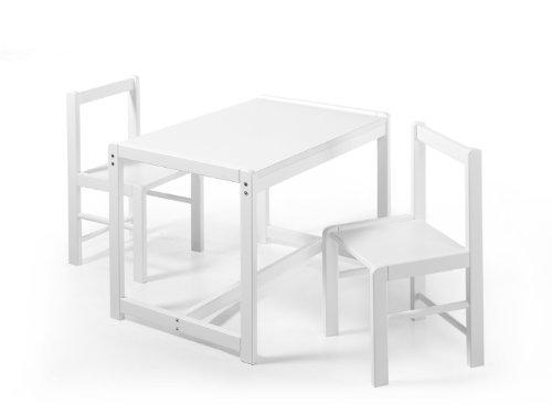 Schardt Sammy 019990002 Salon Suite 2 chaises 1 table laqué blanc finition