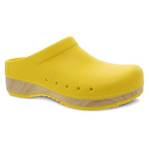 Dansko Women's Kane Yellow Slip On Mule 8.5-9 M US