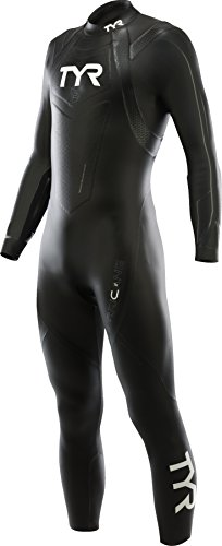TYR Muta da Triathlon da Uomo Categoria 2, Black/Grey, XS