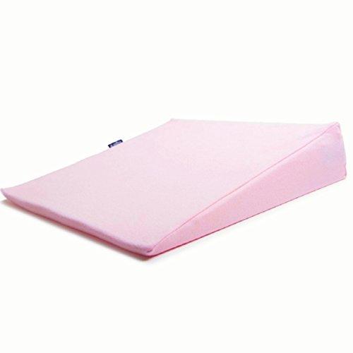 Baby Stützkissen - Keilkissen 15°Babykissen - Lagerungskissen für Rückenlage (60x40x12 rosa)