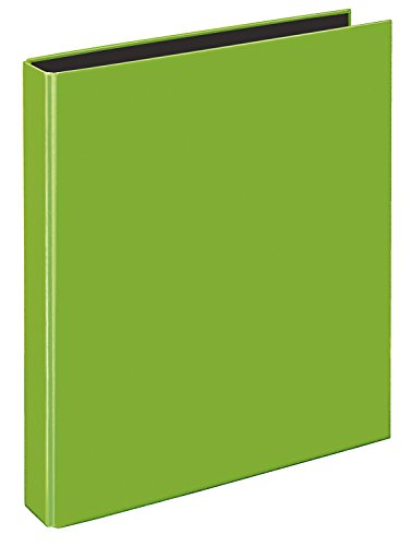 VELOFLEX 1143341 - Ringbuch VELOCOLOR, Ringordner, Ordner, DIN A4, 255x318x45, 4-Ring-Mechanik, Karton, hellgrün