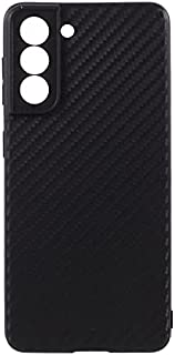 Samsung Galaxy S21 Plus 5G Case Cover Carbon Fiber Design TPU Black Soft Slim Flexible Shock Absorbent Protective Case Cov...
