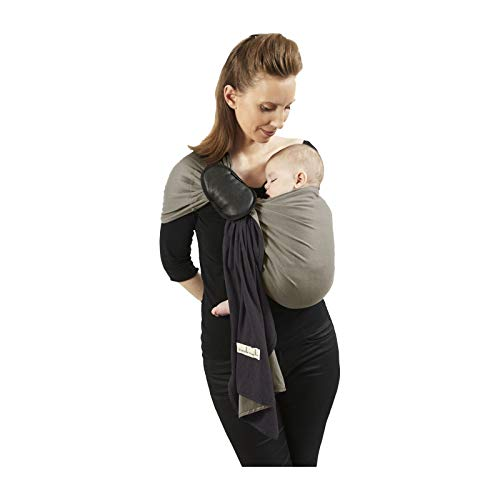 je porte mon bébé Petite Echarpe sans Nœud Anthracite/Olive