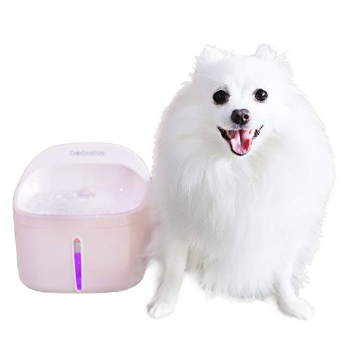 Dogness Pet Fountain Cat Water Dispenser Healthy and Hygienic Drinking Fountain 2L Automatic Electric Water Bowl for Dogs, Cats, Birds and Small Animals - Pink