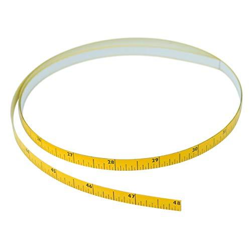 Powertec 71163 - Cinta métrica autoadherente (izquierda a derecha, 4 pies de largo x 5/16 pulgadas de ancho x 1/128 pulgadas de grosor)