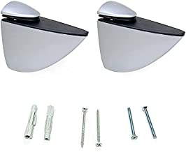 Emuca 4009025 paar plankdragers model Pelicano voor planken in hout/glas/kristal met dikte 5-40 mm uitvoering aluminiumkle...