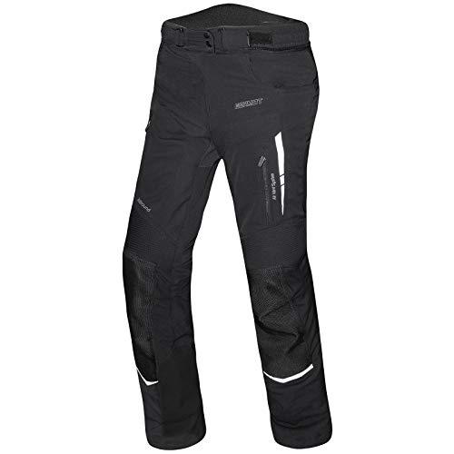 Germot Damen Motorrad-Textilhose Allround, wind- und wasserdicht, Kurz-Größe, schwarz, 22