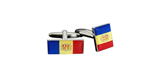 Flaggenfritze® Manschettenknöpfe Fahne / Flagge Andorra