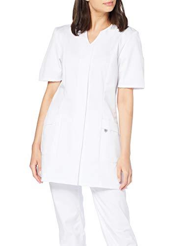 BP Damenkasack 1639 485 Weiß Kurzarm Schwesternkittel strapazierfähiges Mischgewebe verschiedene weiß, Größe 38n