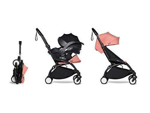 Babyzen Poussette YOYO 2 Pratique et légère Ginger avec siège Auto bébé iZi Go Modular - Noir 6+