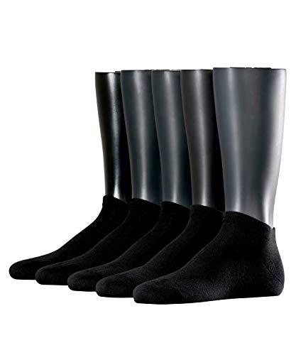 ESPRIT Herren Sneakersocken Solid 5-Pack - 80% Baumwolle, 5 Paar, Schwarz (Black 3000), Größe: 40-46