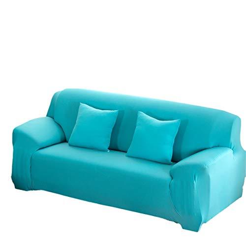 Yunchengyunxiangtong Stretch Couch Elastic-Sofa-Abdeckung Solid Color Full Cover Sofa Handtuch Anti-Rutsch-Sofa-Abdeckung (Color : Blue)