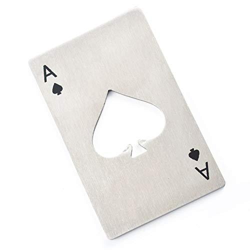 ZHAOYONGBING Edelstahl Poker Kreditkarte Brieftasche Bierflaschenöffner Bar Tool Geeignet für Familie, Reisen, etc.