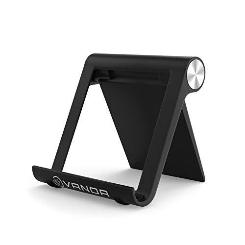 VANOA Handyhalter 7fach verstellbar, Handy Halterung, Handy Ständer, Tablet Halterung, Tablet Ständer kompatibel mit iPhone, iPad, Samsung, Huawei