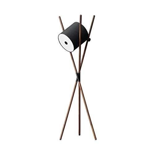 KANULAN - Estudio, salón nórdico, moderno, simple, dormitorio de madera maciza, lámpara de pie de nogal negra, lámpara de pie (color B)