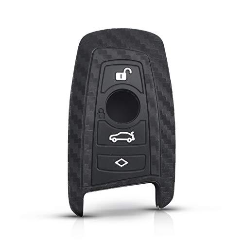 Fibra Silicone Smart Key Cover Shell Funda Ajuste para Ajuste para B M W Nuevo 1 3 4 5 6 7 Serie F10 F20 F30 Accesorios para automóviles 4 Botones