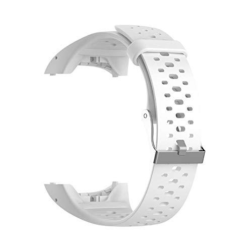 Reemplazo de silicona Correa de reloj Correa de muñeca para Polar M400 M430 GPS Running Smart Sports Watch Correa de muñeca con herramientas (blanco)