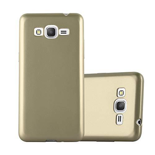 Cadorabo Coque pour Samsung Galaxy Grand Prime en Metallic Or - Housse Protection Souple en Silicone TPU avec Anti-Choc et Anti-Rayures - Ultra Slim Fin Gel Case Cover Bumper