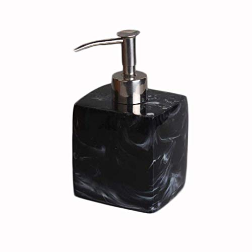 JiangKui Dispensador de Jabón Líquido Botella de Jabón de Resina Dispensador de Champú de Mármol de Hotel Prensa Líquido para Lavarse Las Manos Botella Dispensador de Jabón Líquido Dispensador de Jab