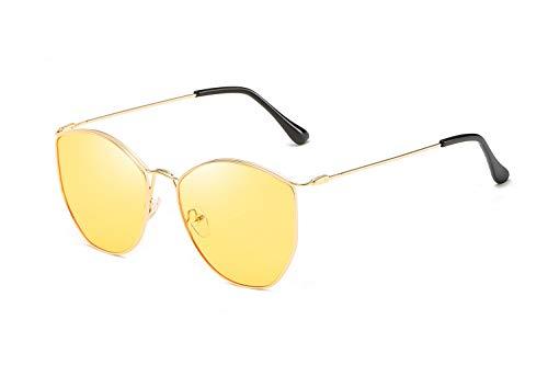 HOUSON Sonnenbrille, Polarisierte Brille mit UV400 Schutz Gelber Rahmen Hellgelbe Linsen für Reisen Fahrer Wandern Motorradfahren Golfen und Fischen