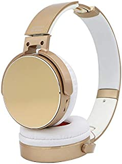 Noise Cancelling Headphones,Wireless Bluetooth Over the Ear Headphones with Mic and Alexa voice control - Active Noise Cancellation -Stereo wireless headset (Gold)