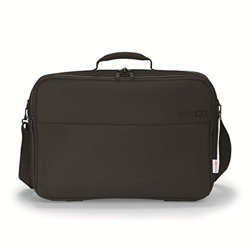 Dicota BASE XX C 13-14.1 Inch Laptop Computer and Tablet Shoulder Bag, Lightweight Clamshell Laptop Case, Black