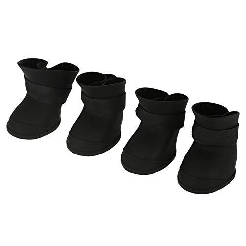 Yosoo Health Gear Stivali per Animali Domestici Impermeabili, Scarpe per Cani da Neve con Protezione per Zampe di Cane, Stivali per Cani in Silicone Antiscivolo per Cani di Piccola Taglia(Black-XL)