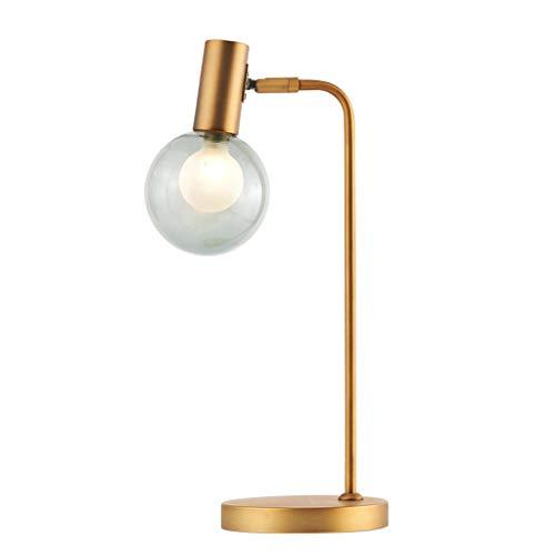 Lámpara de Mesita de Noche Lámpara de mesa industrial pequeñas lámparas for el dormitorio, oficina, dormitorio, latón de noche Mesilla de noche de la lámpara de cristal de la bola pequeña lámpara de t