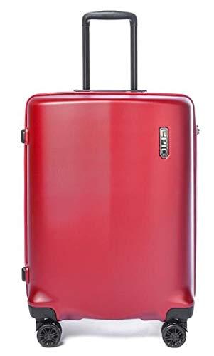 Epic Koffer-Set Clip 75 Zentimeter 107 Liter 4 Räder Rot Zahlenschloss L-107 Liter