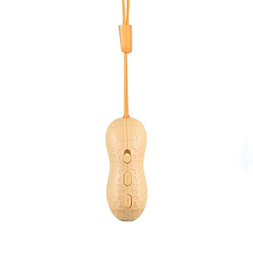 Draagbare professionele voicerecorder, mini pindakvorm smart-één-toetsenopname, digitale geluidsrecorder (geel) eenvoudig te gebruiken