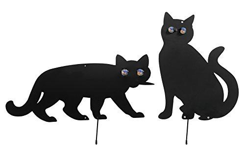 WENKO Vogelschreck Katzen - 2er Set, Eisen, Schwarz