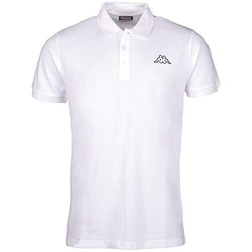 Kappa Herren Peleot Poloshirt, Weiß, 3XL EU