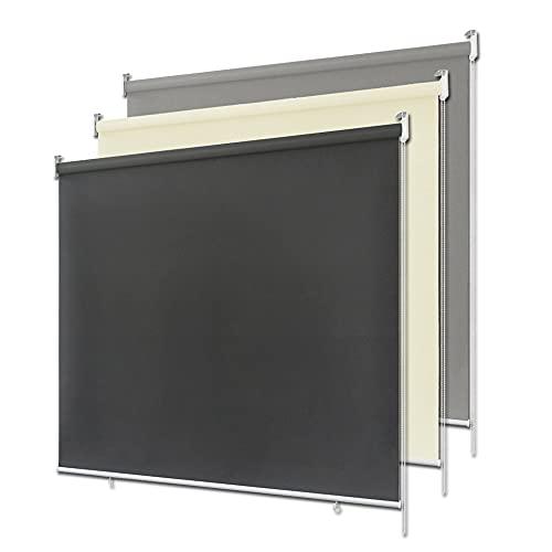 LeMeiZhiJia - Estor para exterior, toldo vertical, para balcón, estor de privacidad, metal, beige, 180*240cm