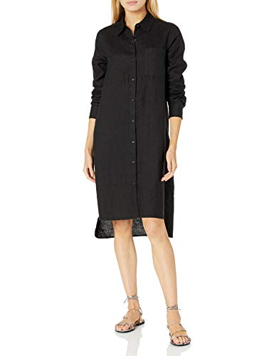 The Drop Women's Celine Long Sleeve Loose-Fit Midi Shirt Dress