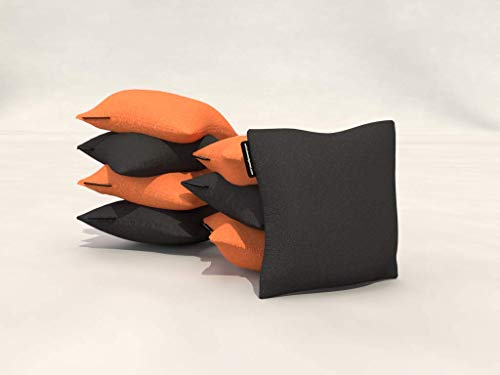 Wicked Wood Games Cornhole Bags - 2 x 4 compatible con ACO, color naranja y negro
