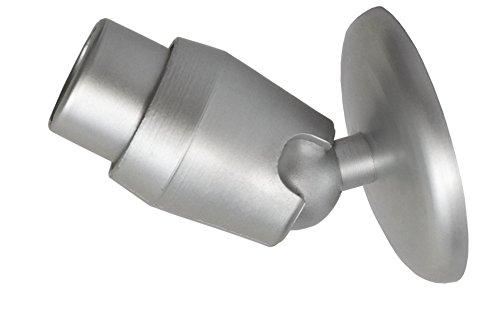 Oblique wandha lter Ø27 mm barre de rideau de douche schrägwandad Tringle d'angle apter. Adaptateur for Corner Rod. Argenté mat