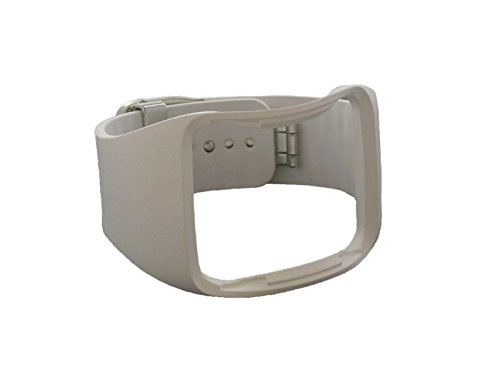 Cinturino da polso di ricambio originale per Samsung Galaxy Gear S SM-R750, di colorebianco, GH98–34686B