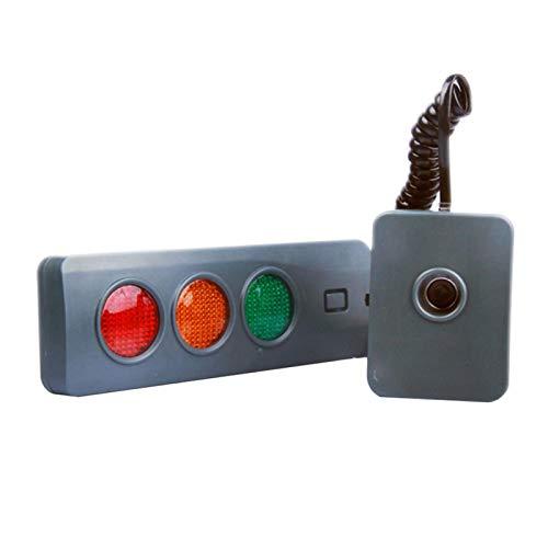 MOVKZACV Parksensor-System für die Garage, Parksensor, 3 Farben, batteriebetrieben, LED-Stopp-Anzeigen für Garage, Positionsanzeige, rechteckig, Piepton warnt sicheres Licht