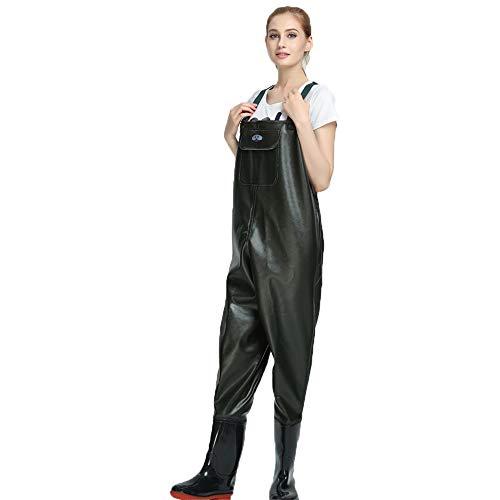 Vadeadores de Pesca Moda Impermeable Pantalones Ropa para Hombres Mujeres con Botas Transpirable Cómodo Bib Pantalones Pesca Equipo Esencial,39