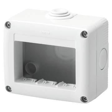 Gewiss Contenitore Per Apparecchi System Protetto 3 Posti Grigio Ral 7035 IP40 GW27003