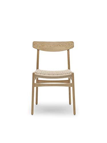 Carl Hansen CH23 stoel, geolied eiken/natuur vlechtwerk