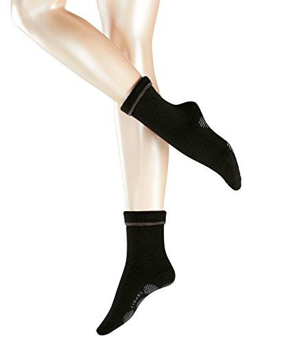 ESPRIT Damen Cosy Homepads 1 W HP Hausschuh-Socken, 5 DEN, Schwarz (Black 3001), 39-42 (UK 5.5-8 Ι US 8-10.5) (2er Pack)